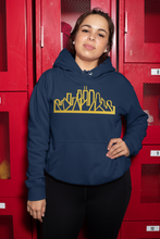 Load image into Gallery viewer, Chicago Skyline Hoodie with Gold Outline