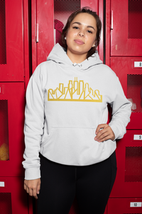 Chicago Skyline Hoodie with Gold Outline