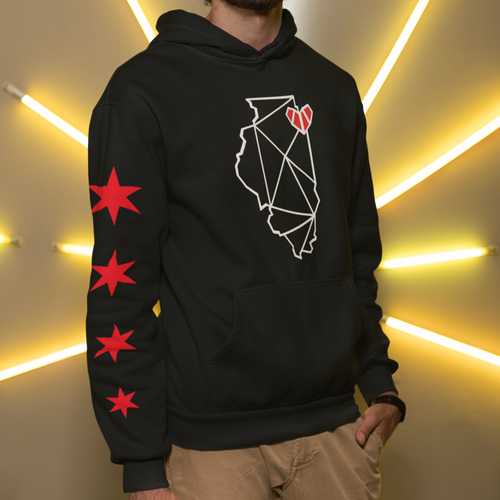 Chicago, IL Hoodies with Stars