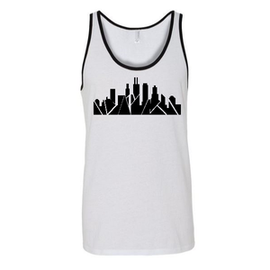 Chicago Skyline Unisex Two-Tone Tank