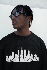 Chicago Skyline Crewneck with Inverted Skyline