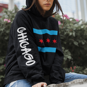 Chicago Flag Hoodie - Graffiti