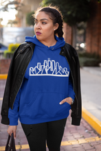 Load image into Gallery viewer, Chicago Skyline Hoodie with White Outline
