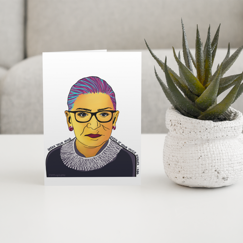 Ruth Bader Ginsburg Pop Art - Greeting Card