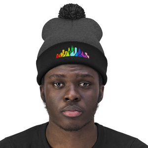 Rainbow Chicago Skyline Beanie
