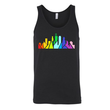 Load image into Gallery viewer, Rainbow Chicago Skyline Unisex Tank