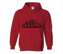Load image into Gallery viewer, Chicago Skyline Hoodie with Black Outline