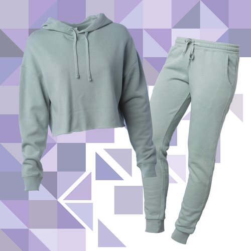 Women's Sage Crop Sweatsuit