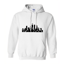 Load image into Gallery viewer, Chicago Skyline Hoodie with Inverted Skyline