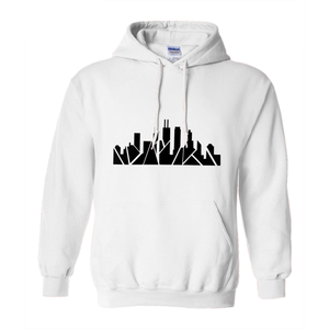 Chicago Skyline Hoodie with Inverted Skyline
