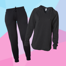 Load image into Gallery viewer, Women's Black Sweatsuit