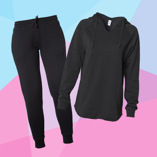 Women's Black Sweatsuit