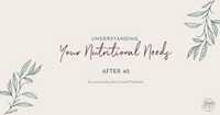 Understanding What Your Nutritional Requirements Are After 40
