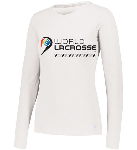 World Lacrosse Long Sleeve Graphic Ladies Tshirt