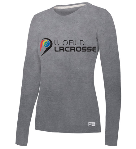 World Lacrosse Long Sleeve Ladies Tshirt