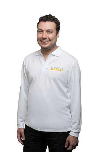 Melanoma March Sun Safe Long Sleeved Polo - Adult (unisex)