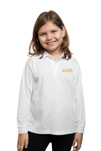 Melanoma March Sun Safe Long Sleeved Polo - Child (unisex)