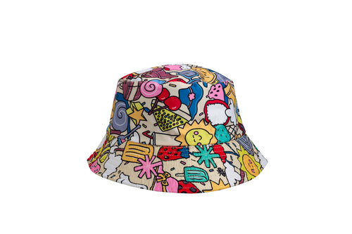 'Summer Picnic' Bucket Hat (reversible)