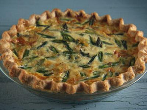 (V) Asparagus and Gruyere Quiche