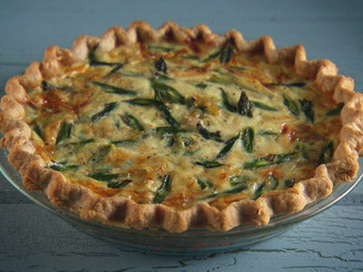 (V) Asparagus and Parmesan Quiche