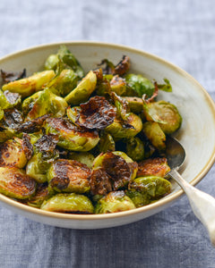(V) Balsamic Roasted Brussel Sprouts