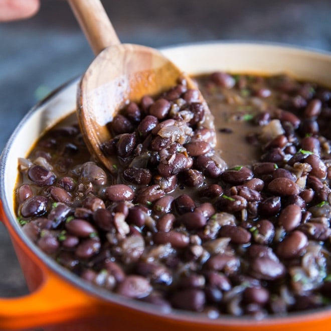 (V) Slow Simmered Black Beans