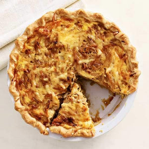 (V) Caramelized Onion and Goat Cheese Quiche