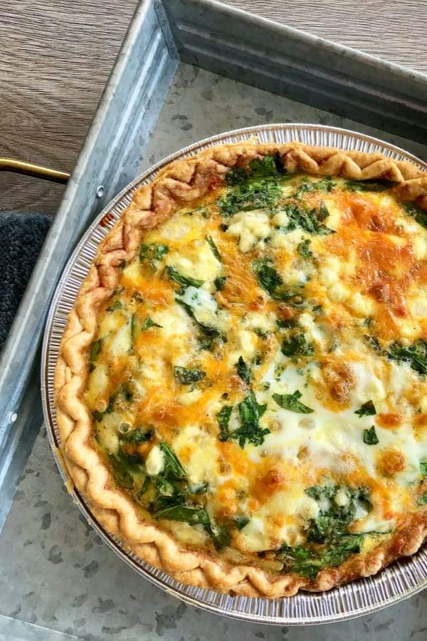 (V) Wilted Spinach and Goat Cheese Quiche