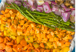 Rainbow Roasted Vegetables (V)