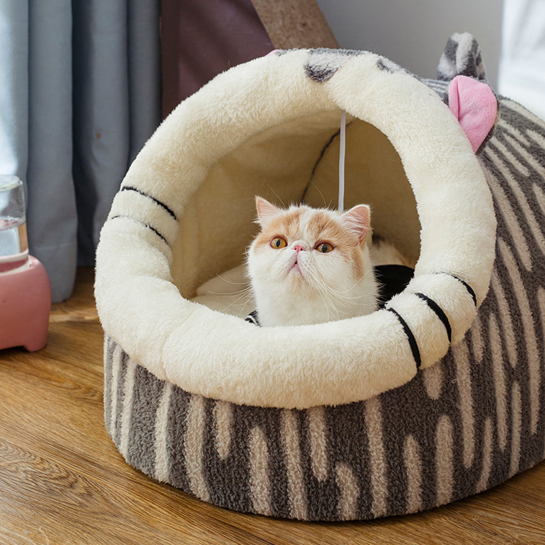 Cute Comfy Calming Cat/Dog House Bed
