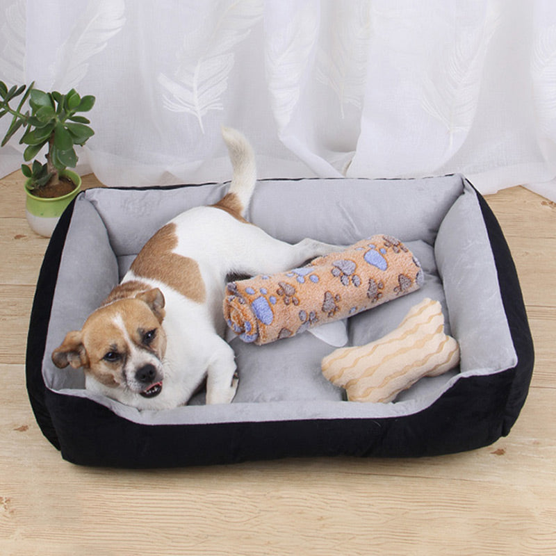Dog Bed Warming Washable Pet Floppy Extra Comfy Nonslip Bottom Bed
