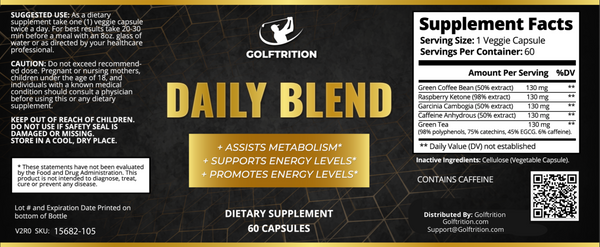 Daily Blend, Supplement, Golftrition