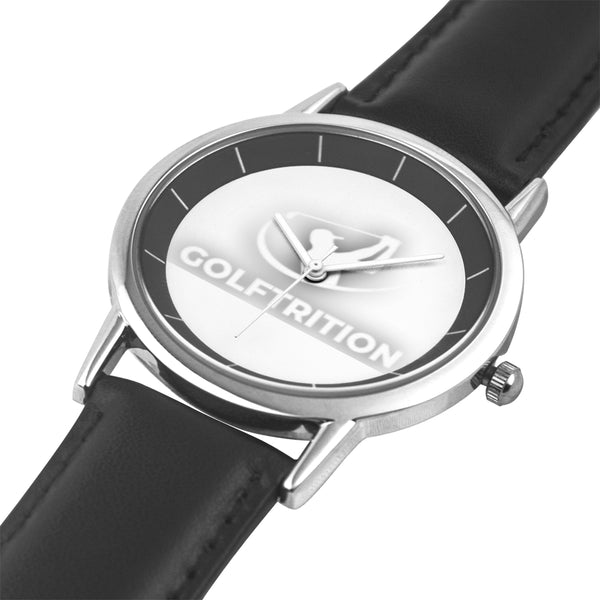 Golftrition Watch With Leather Band with Stainless Watch Face - Golftrition