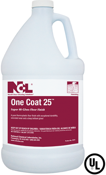 One Coat 25 Super High Gloss Floor Finish - (1 GAL)
