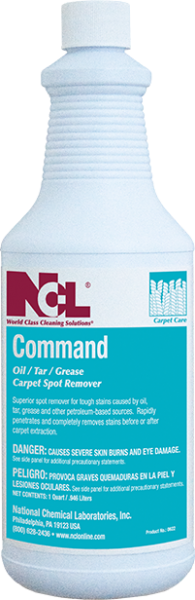 Command Oil / Tar / Grease Carpet Spot Remover - (1 QT)