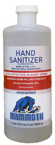 Mammoth Hand Sanitizer - Liter