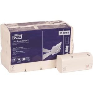 TORK Advanced PeakServe Continuous Multifold Paper Towels, White