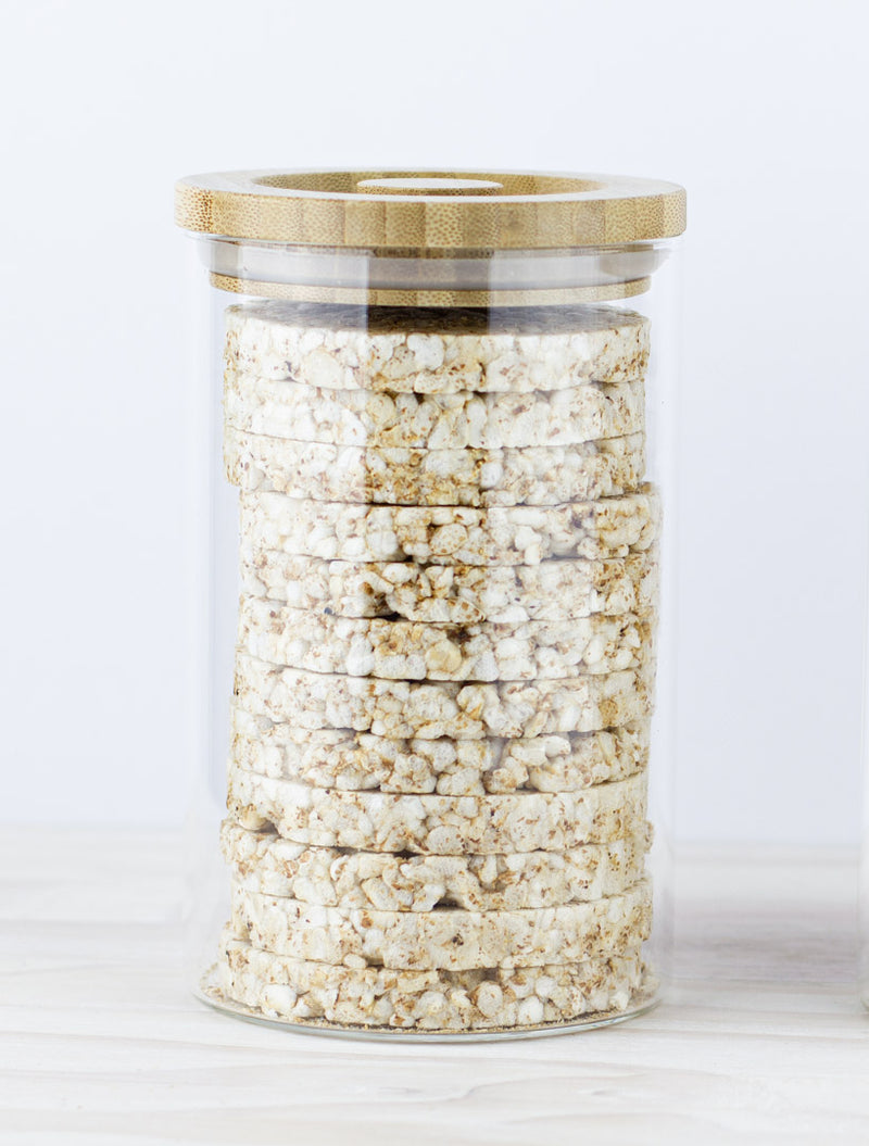 Glass Storage Jar with Wooden Lid. Perfect for Our Cakes!