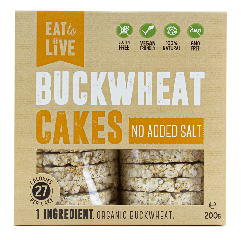 BUCKWHEAT CAKES No Added Salt (Gluten Free)