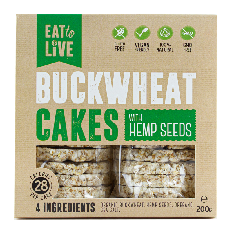 BUCKWHEAT CAKES with Hemp (Gluten Free)