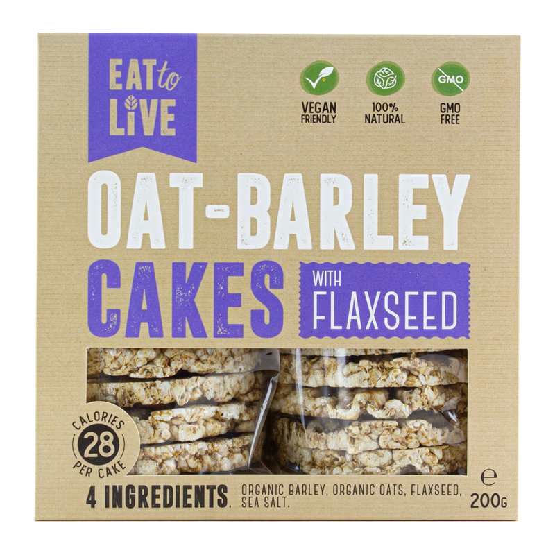 OAT - BARLEY CAKES with Flaxseed