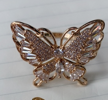 Load image into Gallery viewer, Retro style adjustable butterfly rings in 2 styles