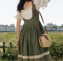 Load image into Gallery viewer, Cottagecore Prairie Lace up vintage dress