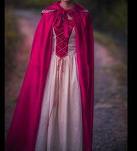 Load image into Gallery viewer, Handmade Medieval Style Princess flared sleeve vintage dress & cloak