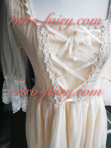 Retro Ethereal Lace up Embroidery Princess Dress
