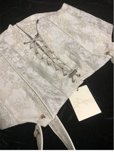 Load image into Gallery viewer, Handmade Jacquard Lace up Vintage Corset Stays