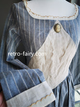 Load image into Gallery viewer, [Premium] Handmade Period Drama Inspired square collar Vintage linen Dress