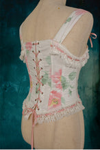 Load image into Gallery viewer, Handmade Vintage Floral Boned Corset Bodice