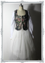 Load image into Gallery viewer, Vintage Floral Lace up Reversible Bodice Waistcoat