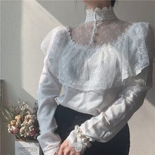 Load image into Gallery viewer, Edwardian Vintage Style Lace Blouse Top Shirt